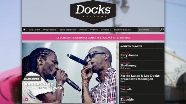 Nouveau site web pour les Docks !